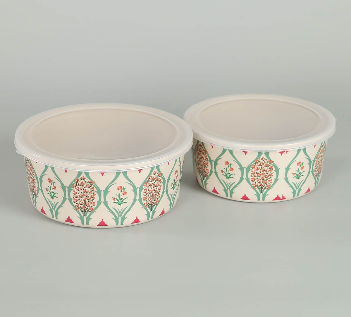India Circus by Krsnaa Mehta Lattice Blooms Big Container set of 2