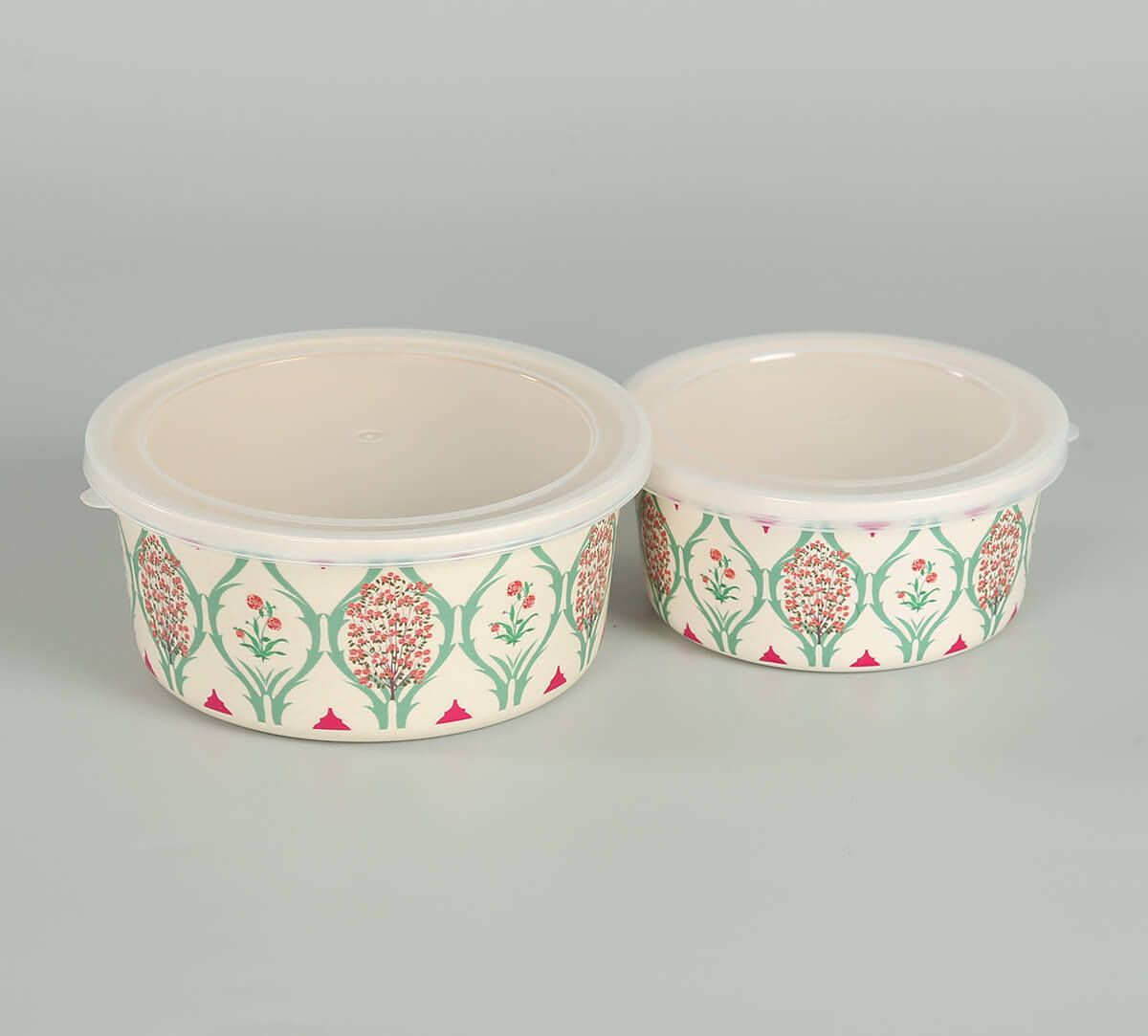 India Circus by Krsnaa Mehta Lattice Blooms Small Container set of 2