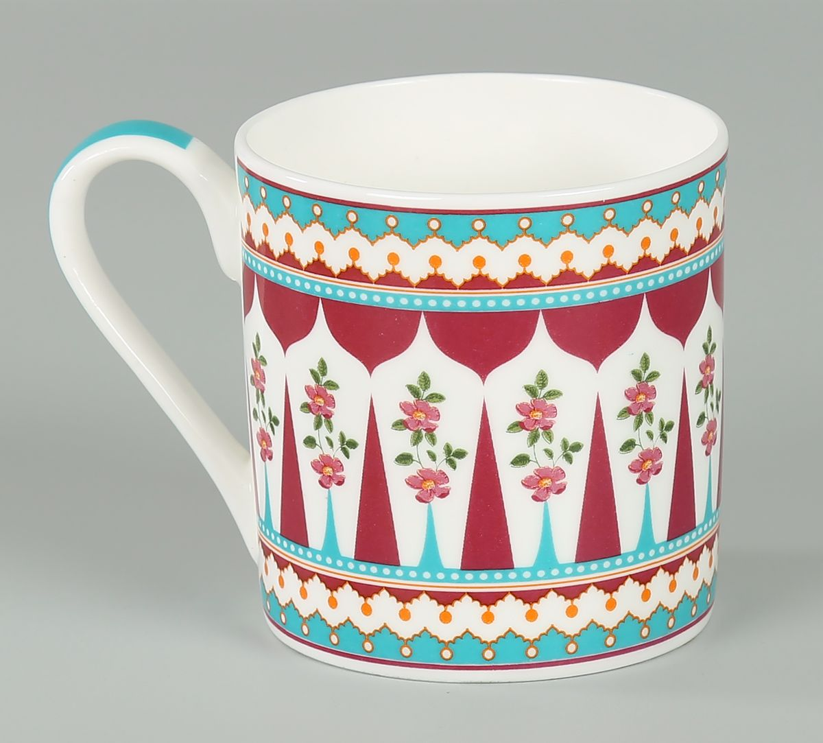 India Circus by Krsnaa Mehta Magenta Quirk Espresso Mug Set of 6