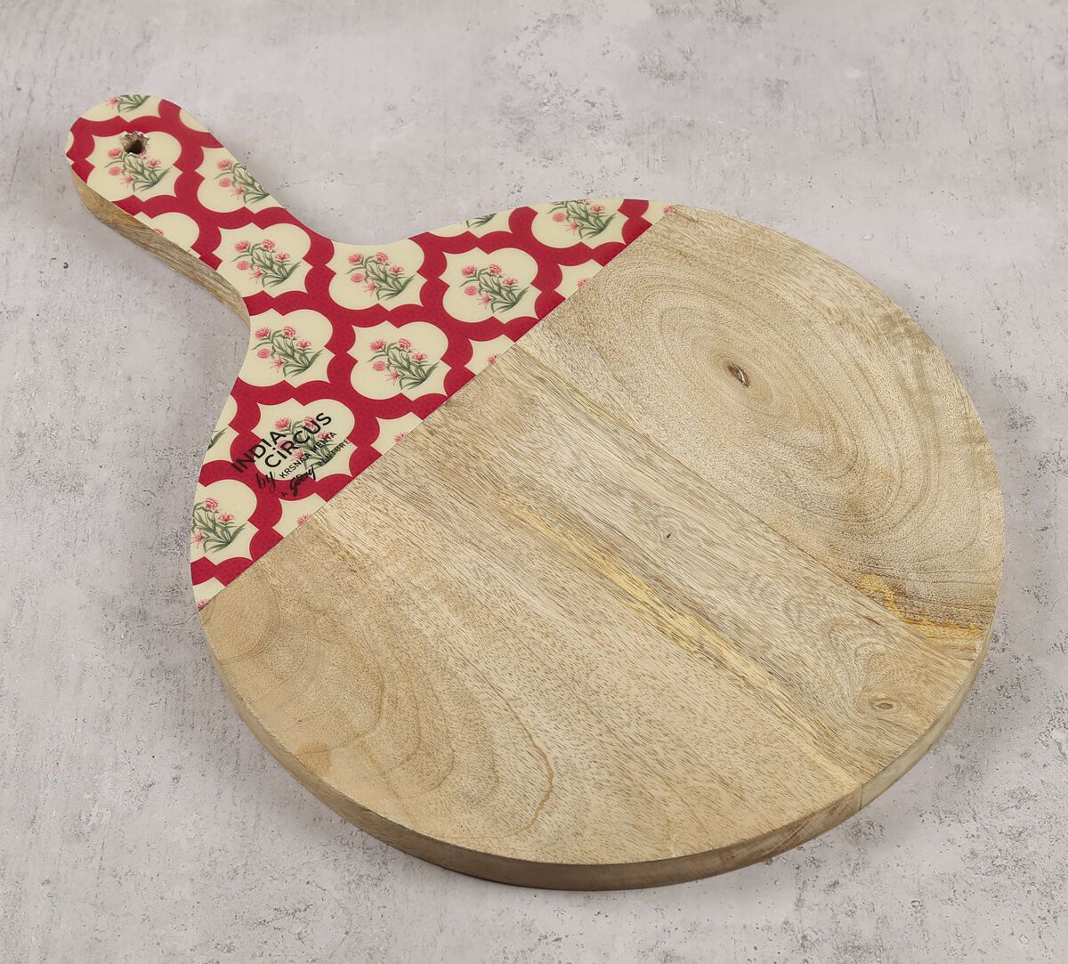India Circus by Krsnaa Mehta Poppy Flower Scarlet Chopping Board