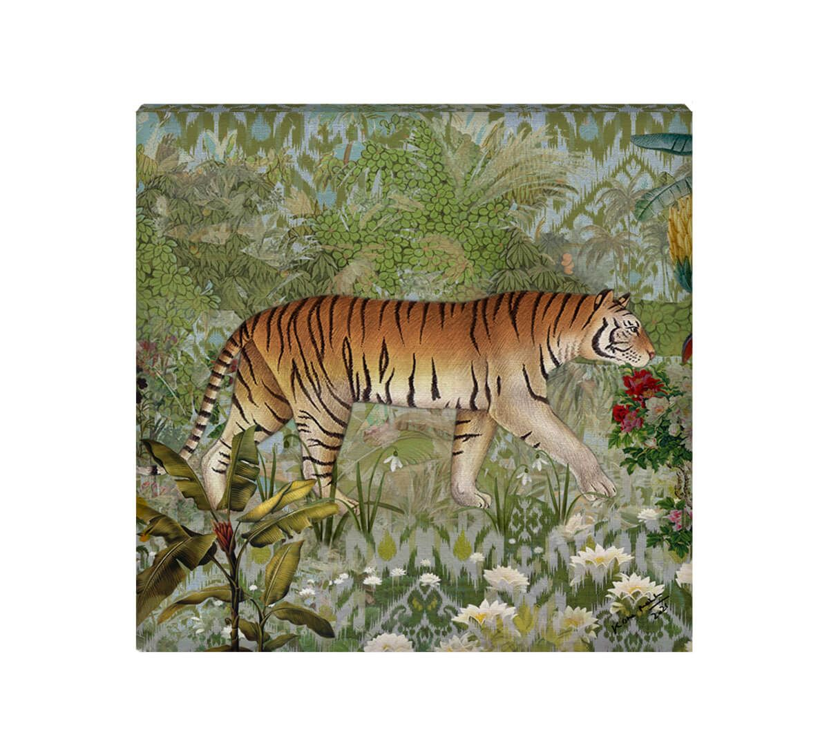 India Circus by Krsnaa Mehta Pride of Bengal Canvas Wall Art