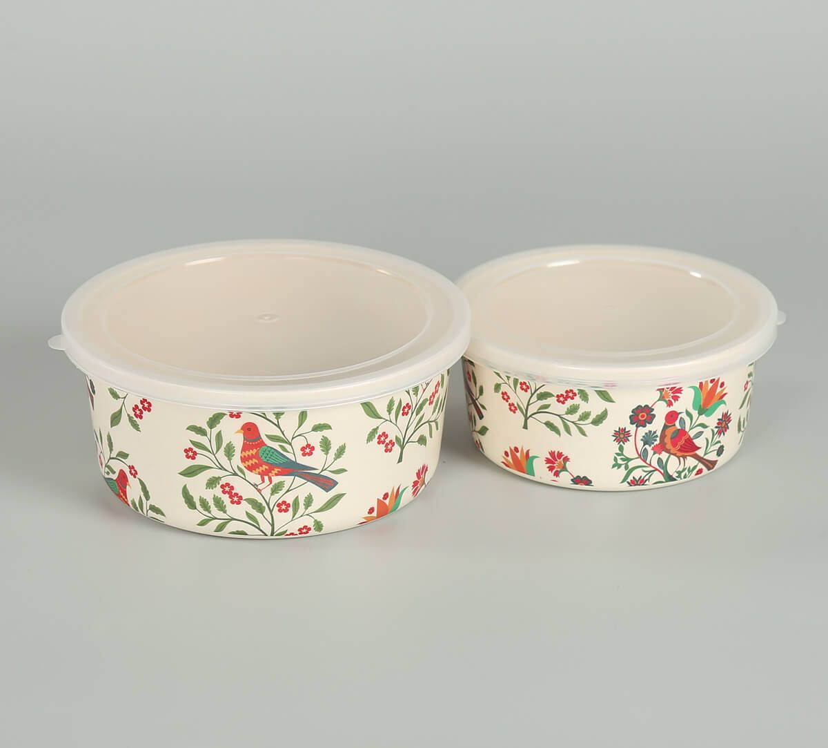 India Circus by Krsnaa Mehta Psittacines Enquiry Small Container set of 2