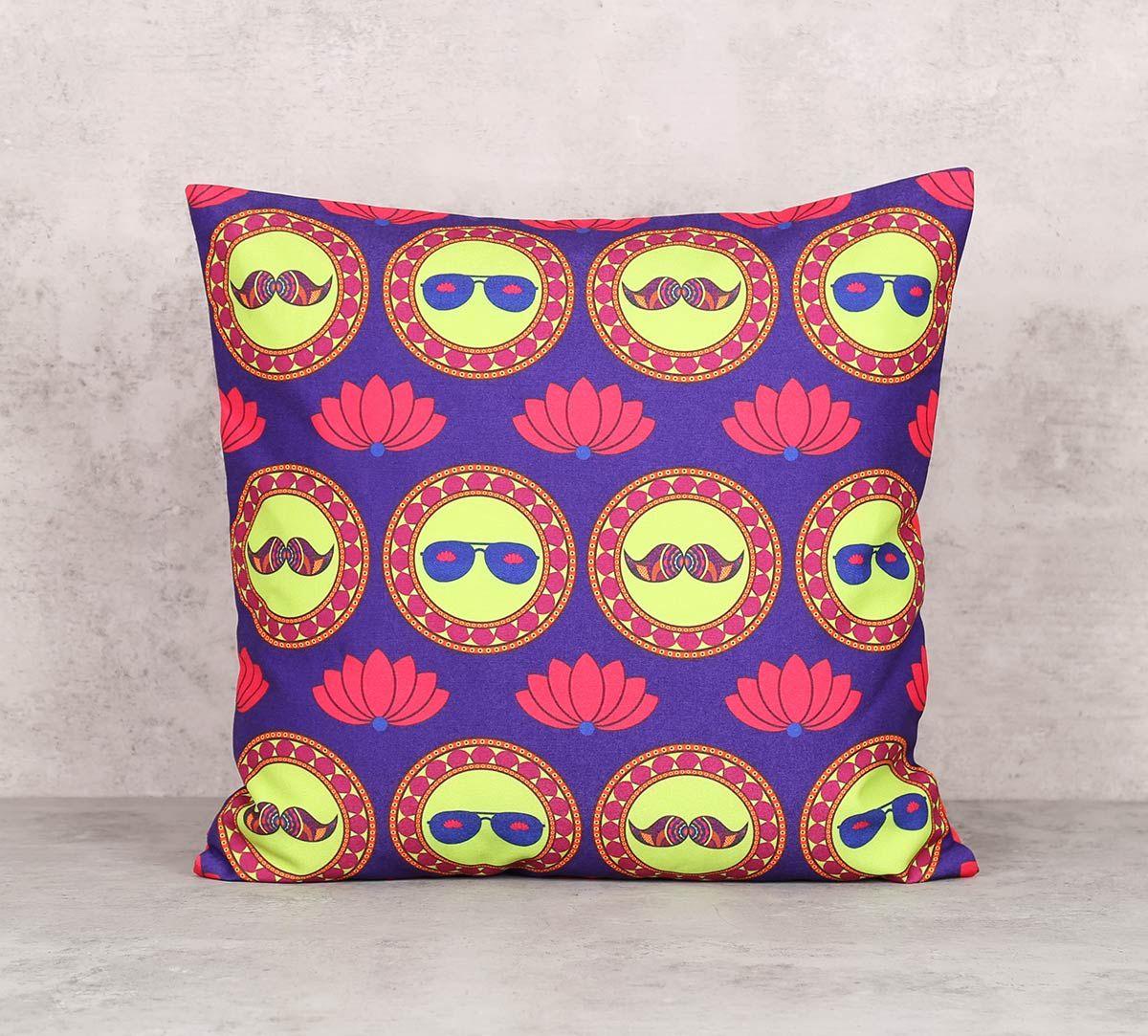 India Circus C'est La Vie Canvas Blend 16 x 16 Cushion Cover