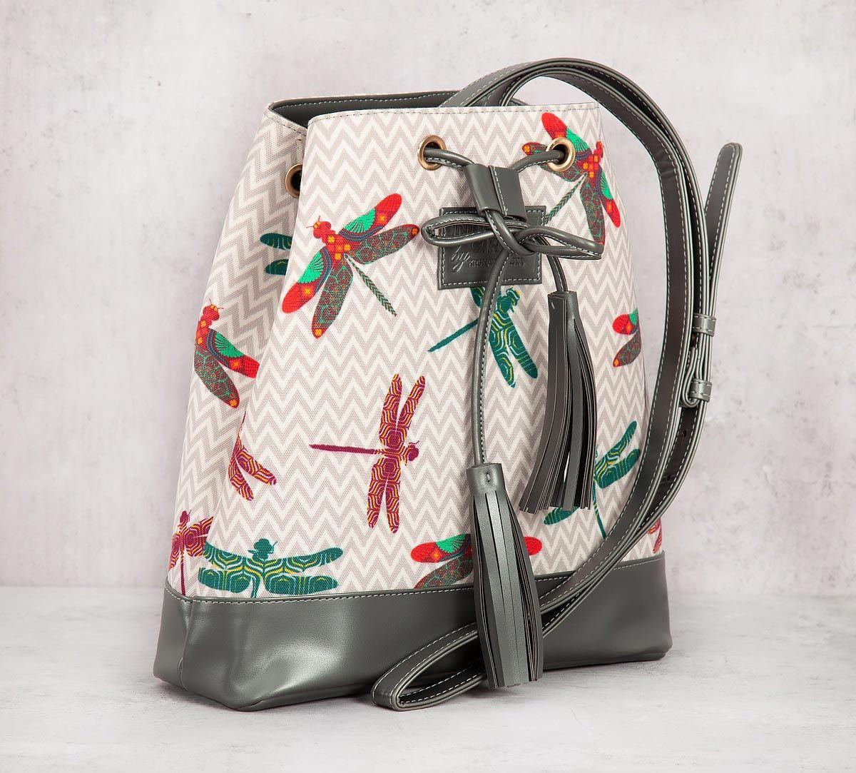 India Circus Chevron Butterflies Hobo Bag