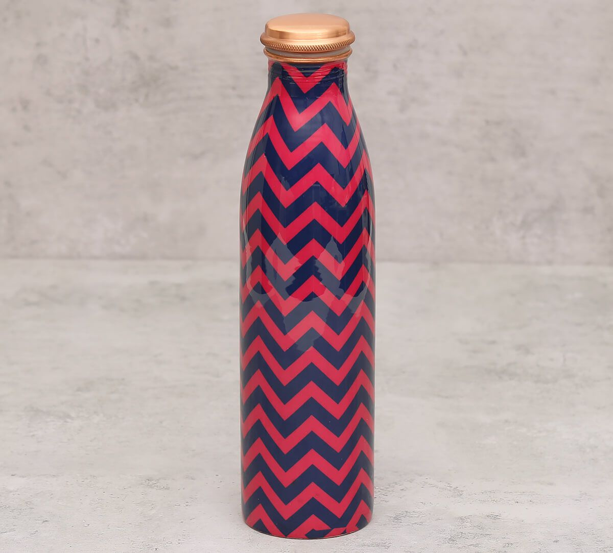 India Circus Chevron Melavo Copper Bottle