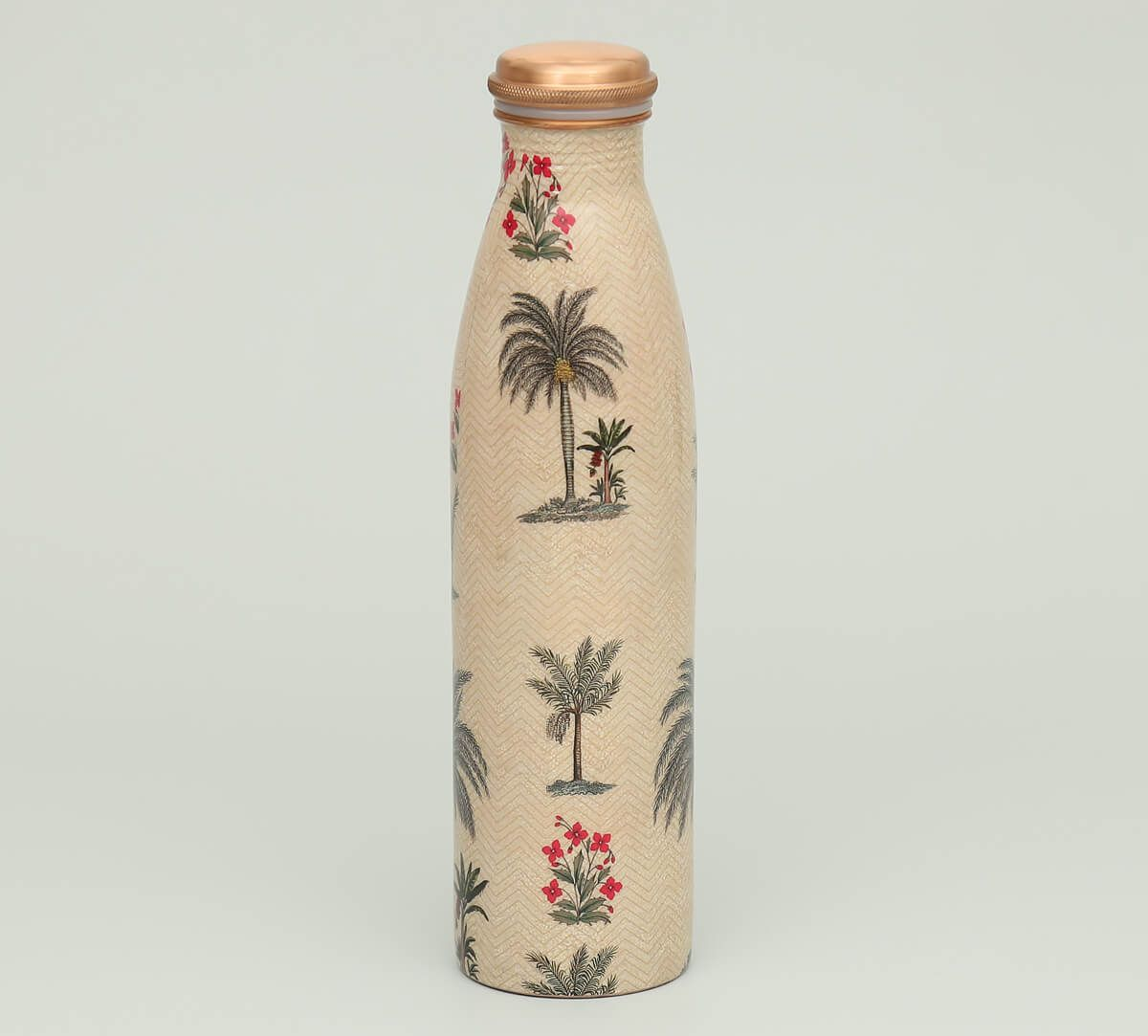 India Circus Chevron Palms Copper Bottle