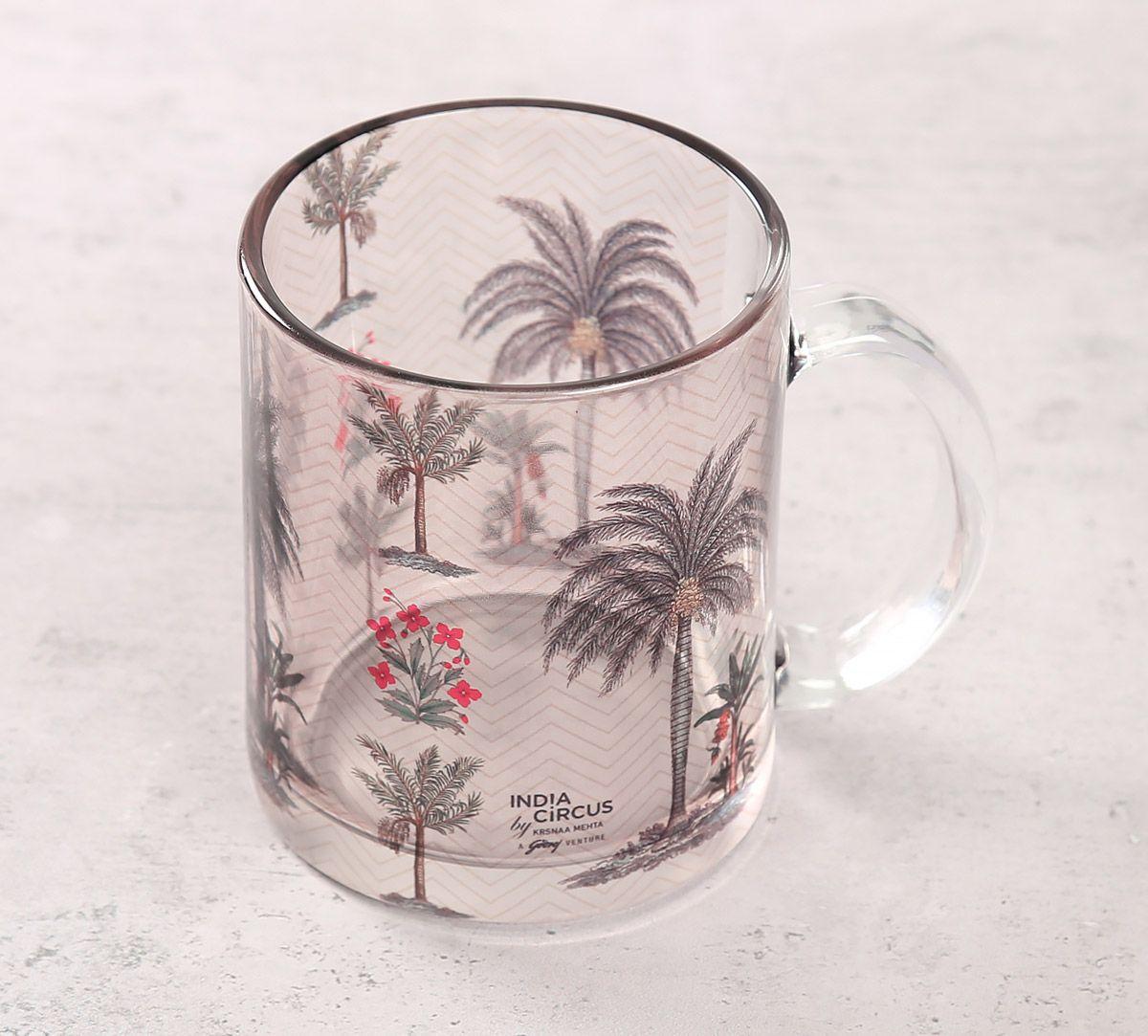 India Circus Chevron Palms Glass Mug