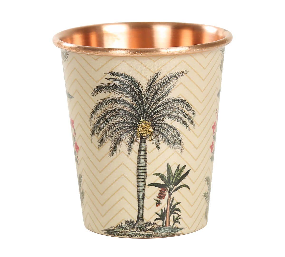 India Circus Chevron Palms Small Copper Tumbler