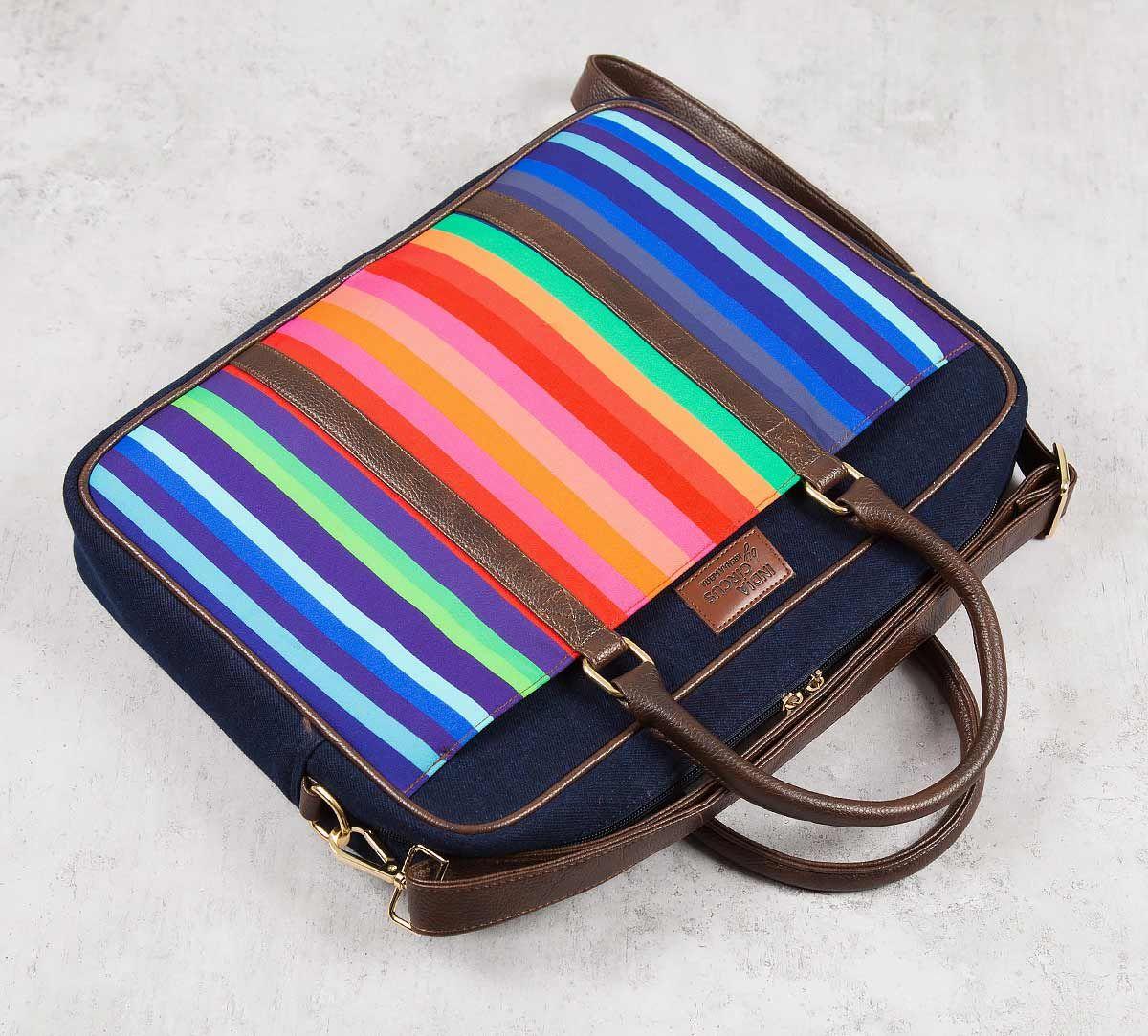 India Circus Colour Pop Scooter Denim Laptop Bag