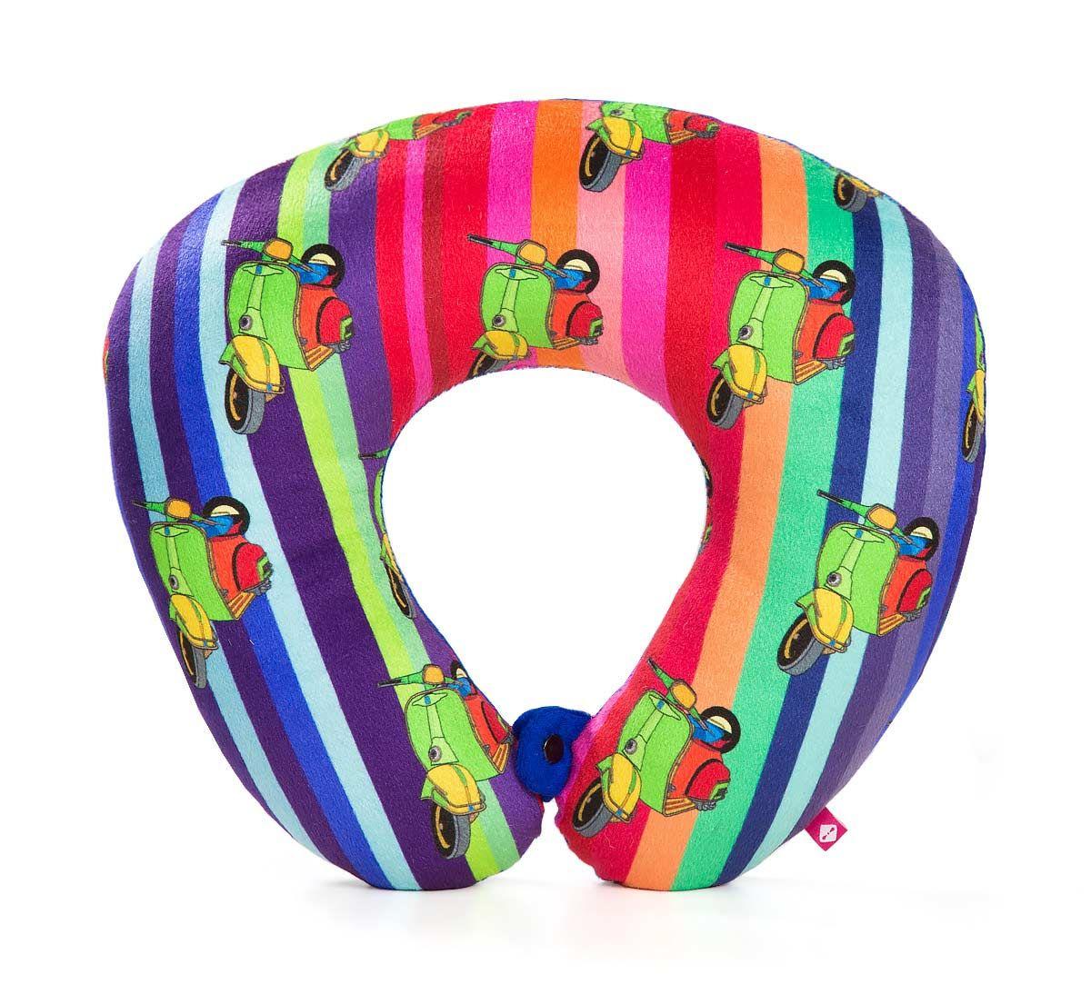 India Circus Colour Pop Scooter Neck Pillow