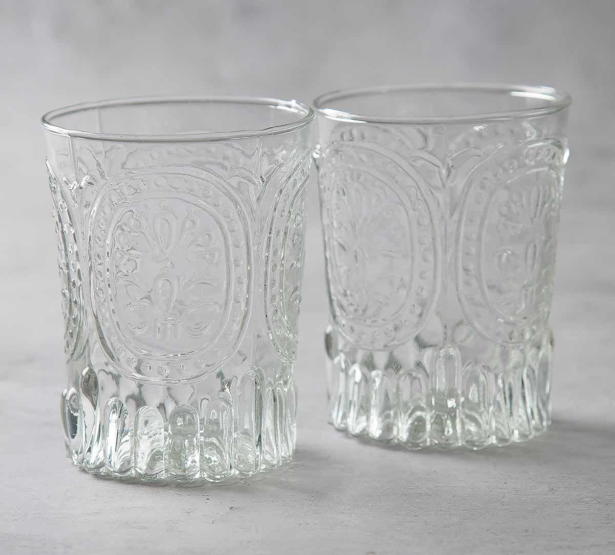 India Circus Crystal Glass Tumbler (Set of 2)