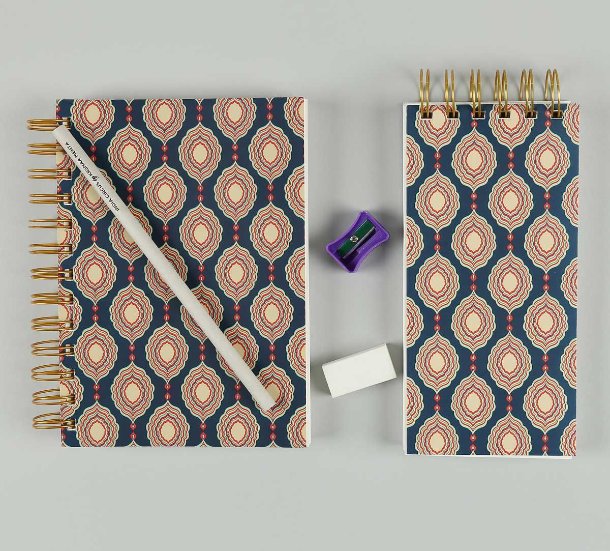 India Circus Curved Mirror Creeper Stationery Combo Set