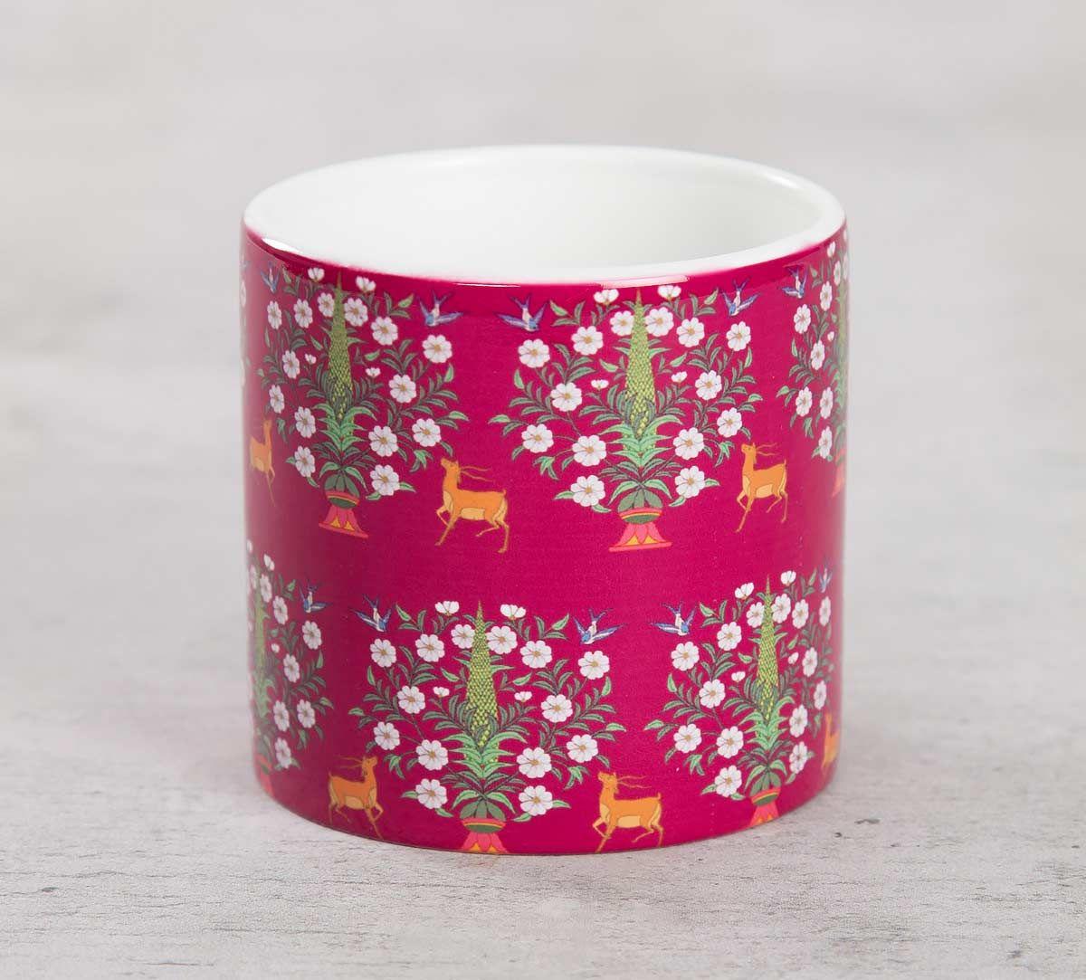 India Circus Deer and Conifer Garden Coffee Mug Small