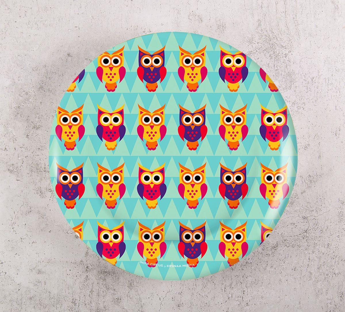 India Circus Disco Hedwig Decor Plate