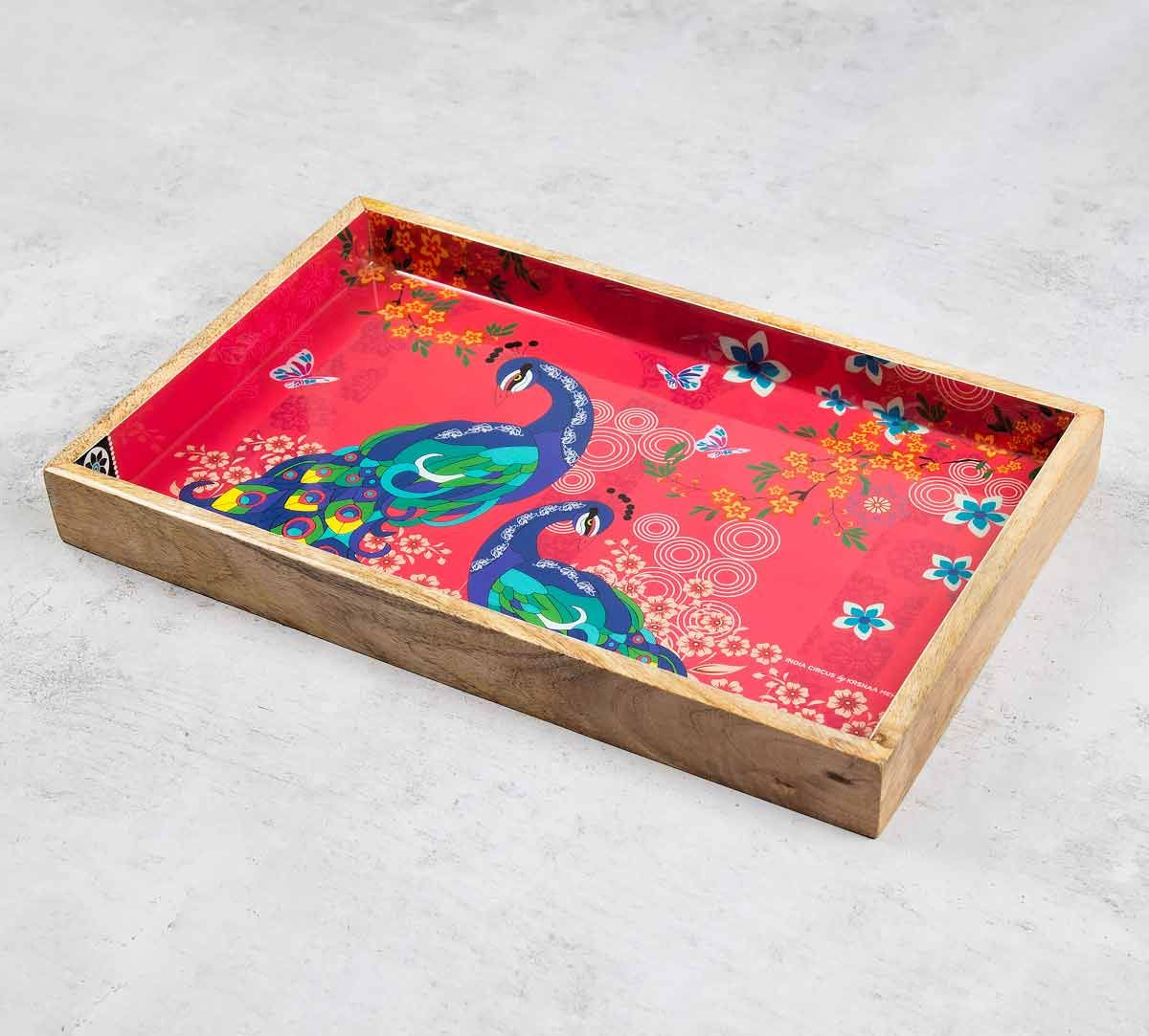 India Circus Feather Train Serving Tray