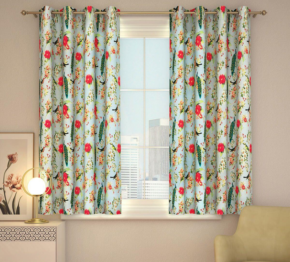 India Circus Feathered Garden Window Curtain