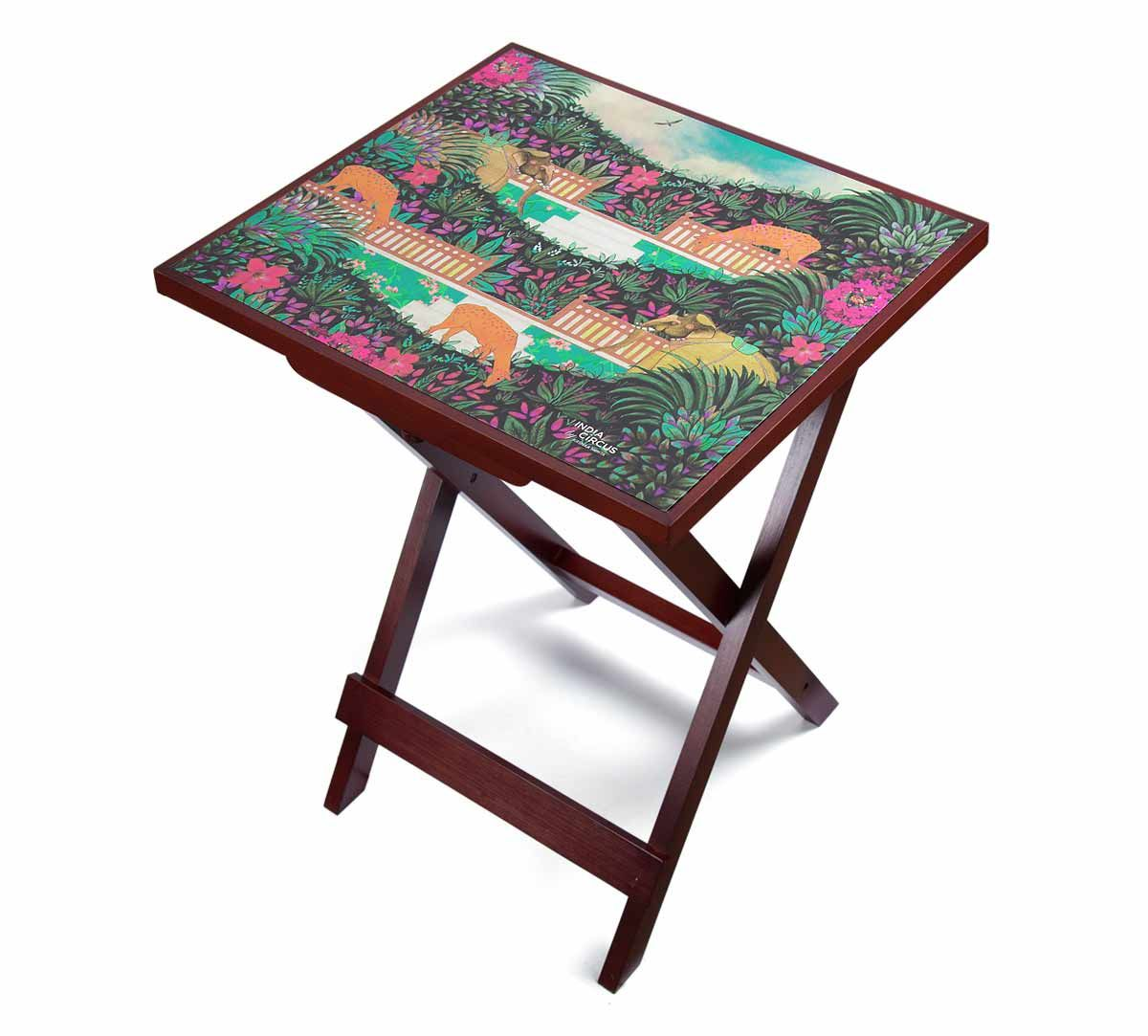 India Circus Floors of Flourish Side Table