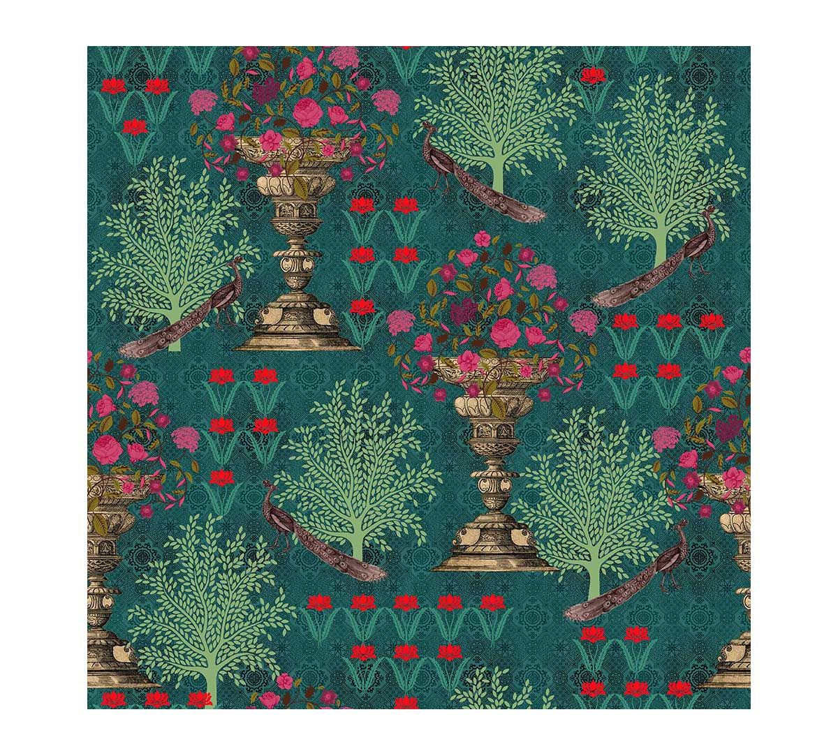 India Circus Flora Crest of the High Flower Wallpaper