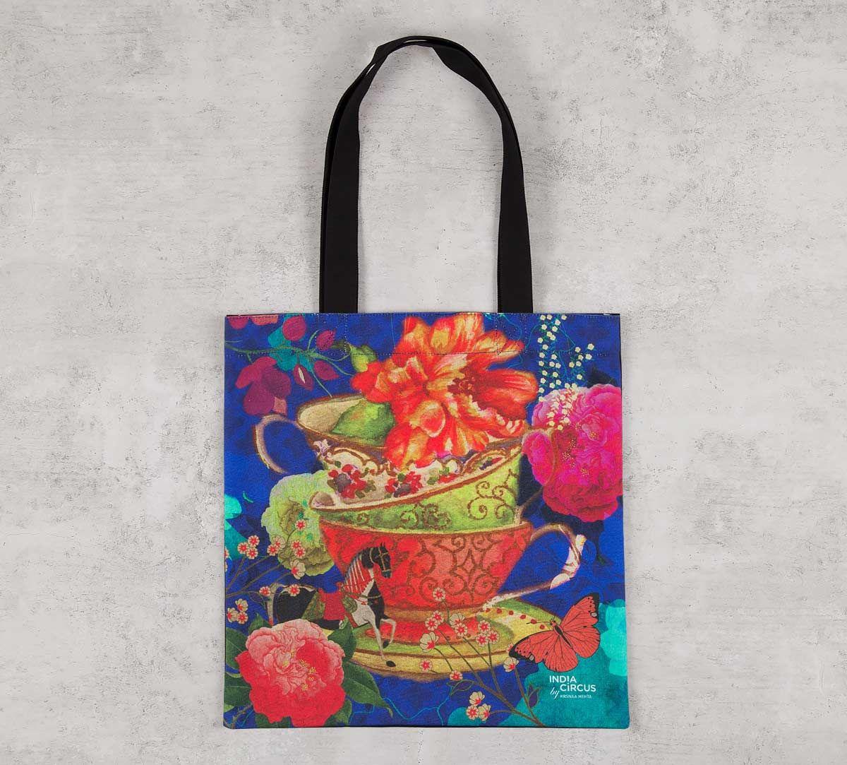 India Circus Floral Cup Illusion Jhola Bag