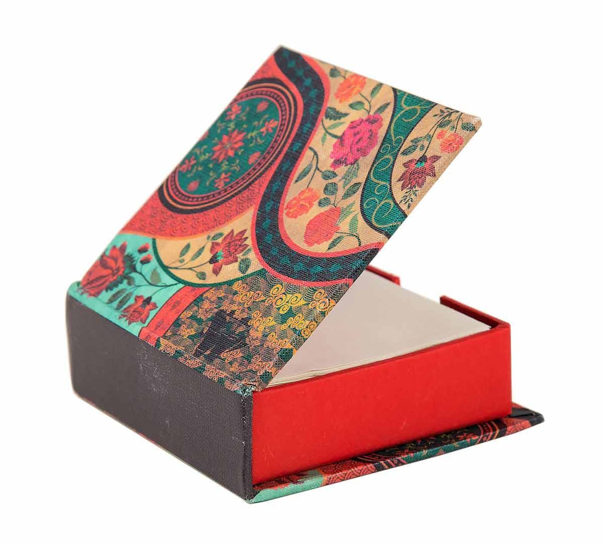 India Circus Floral Embroidery Memo Pad Box