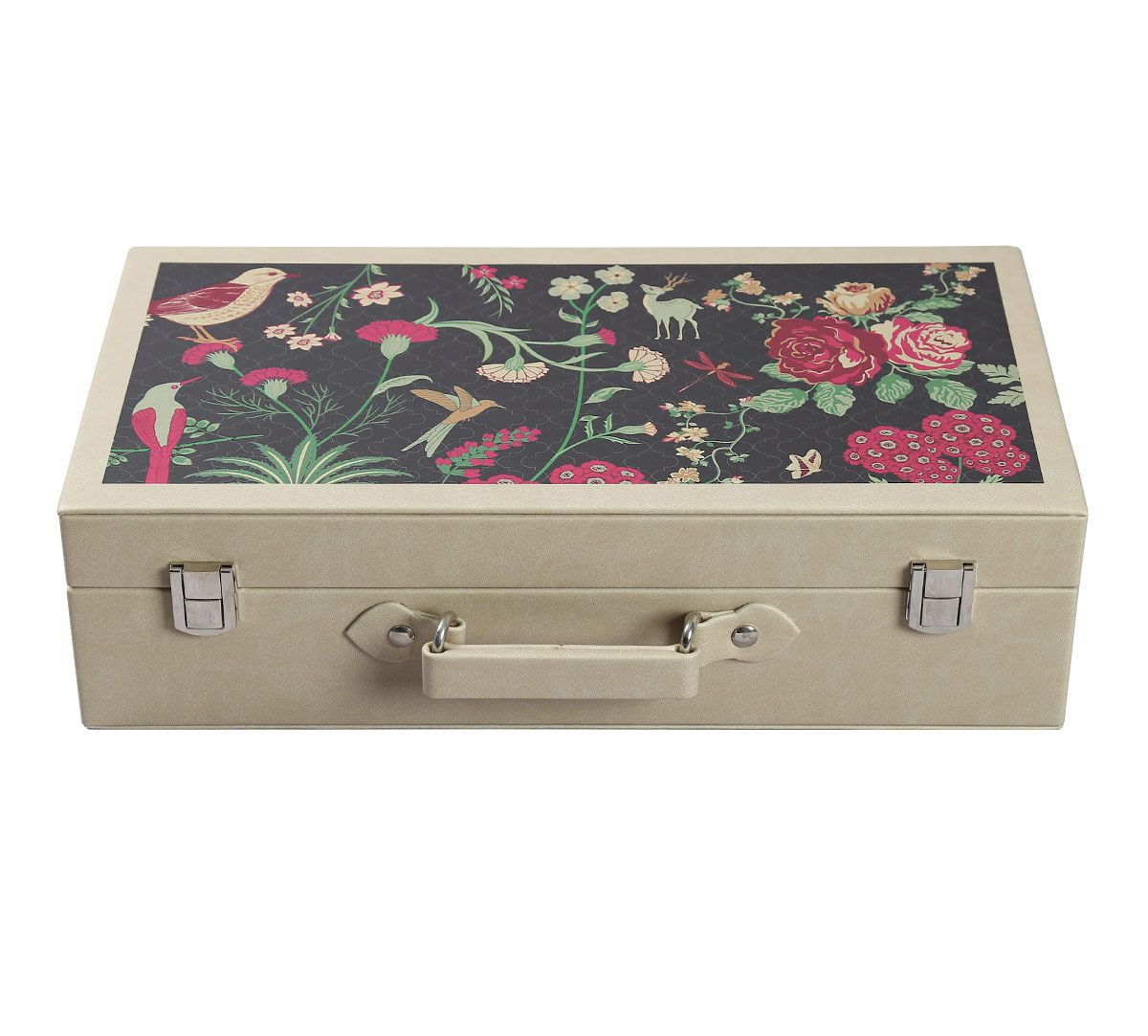 India Circus Floral Galore Leather Watch and Eyewear Box
