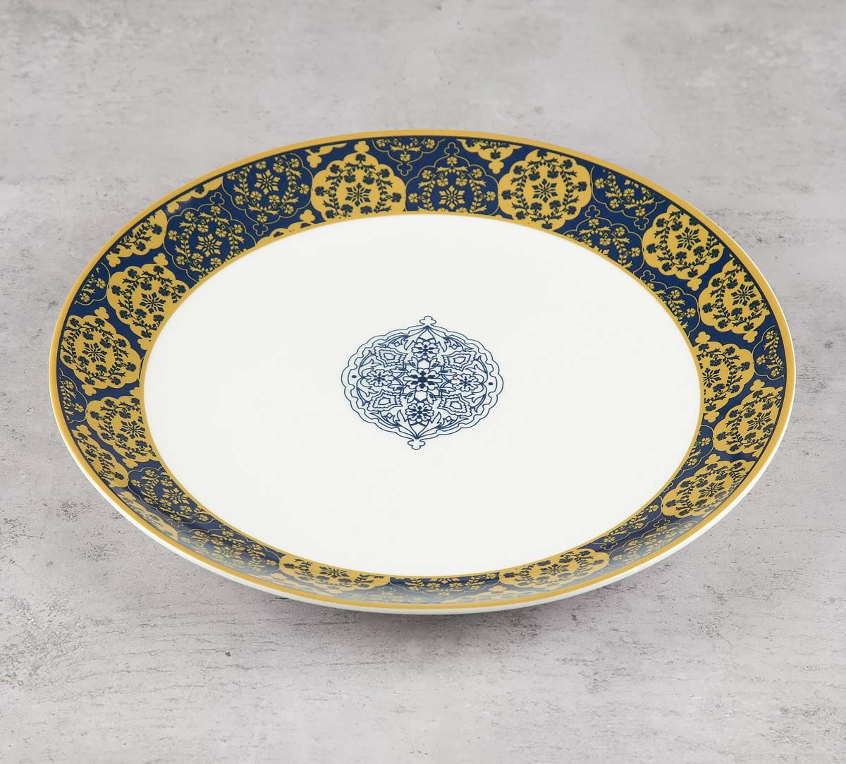 India Circus Floral Hypnosis Dinner Plate