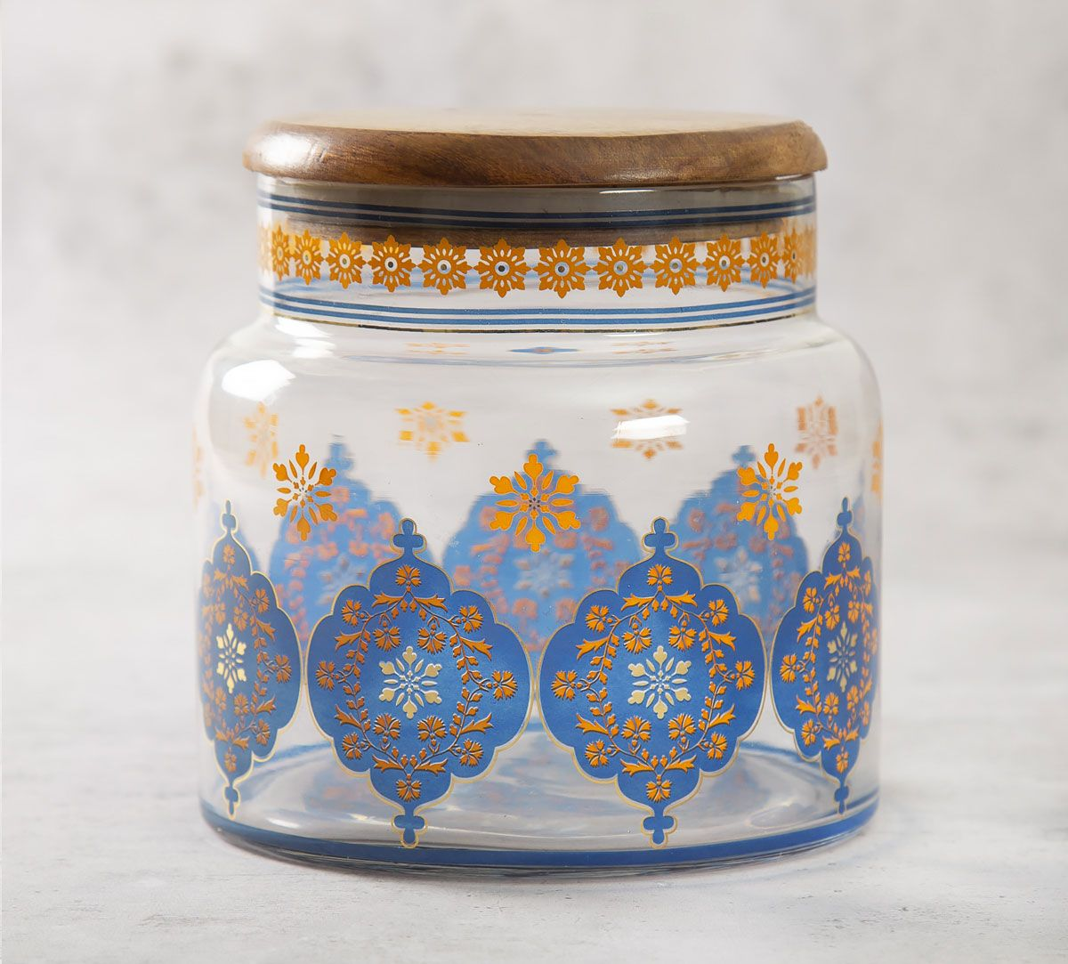 India Circus Floral Hypnosis Glass Jar