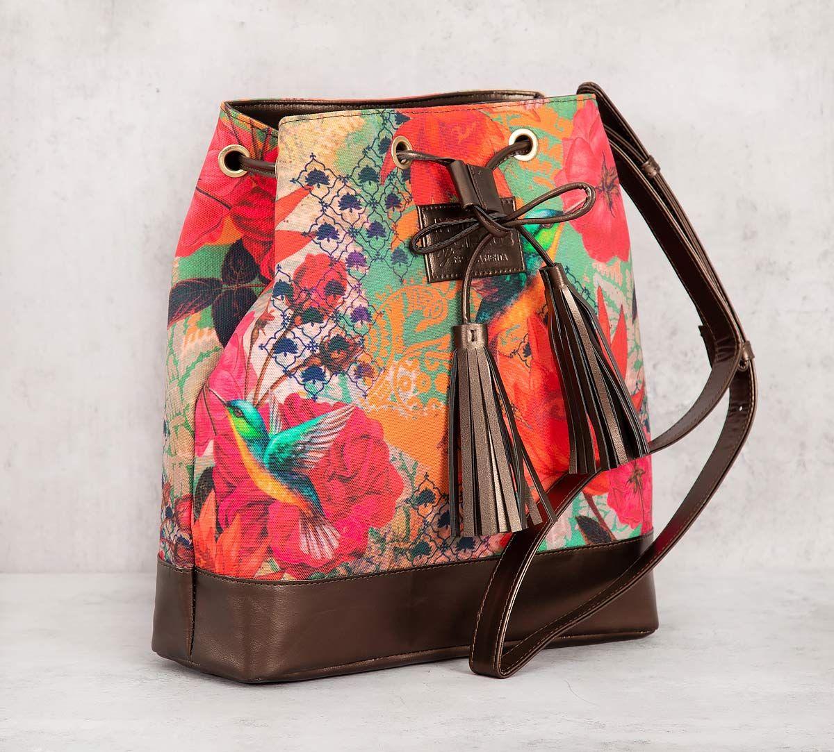 India Circus Floral Kingdom Hobo Bag