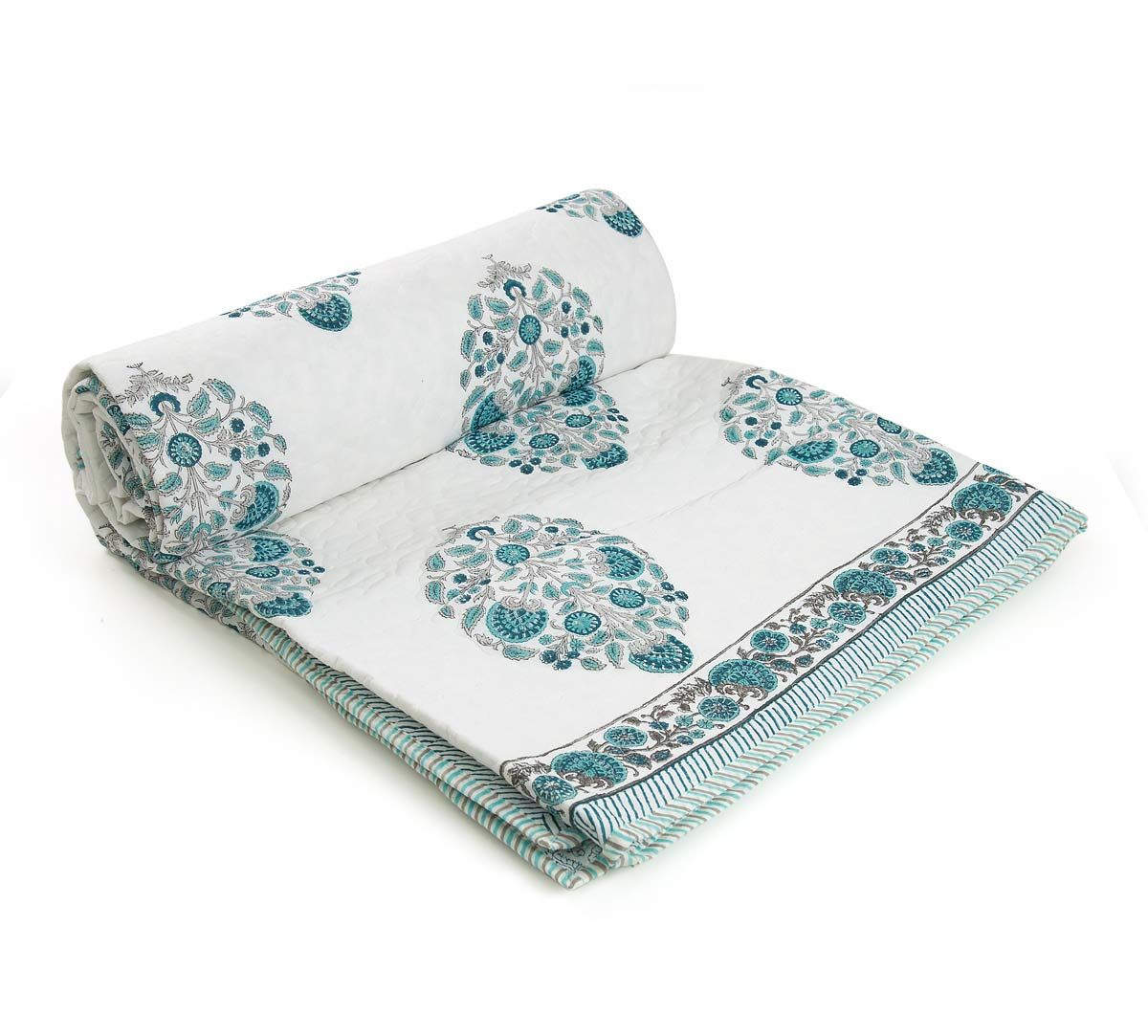 India Circus Florets Quilted Comforter Set