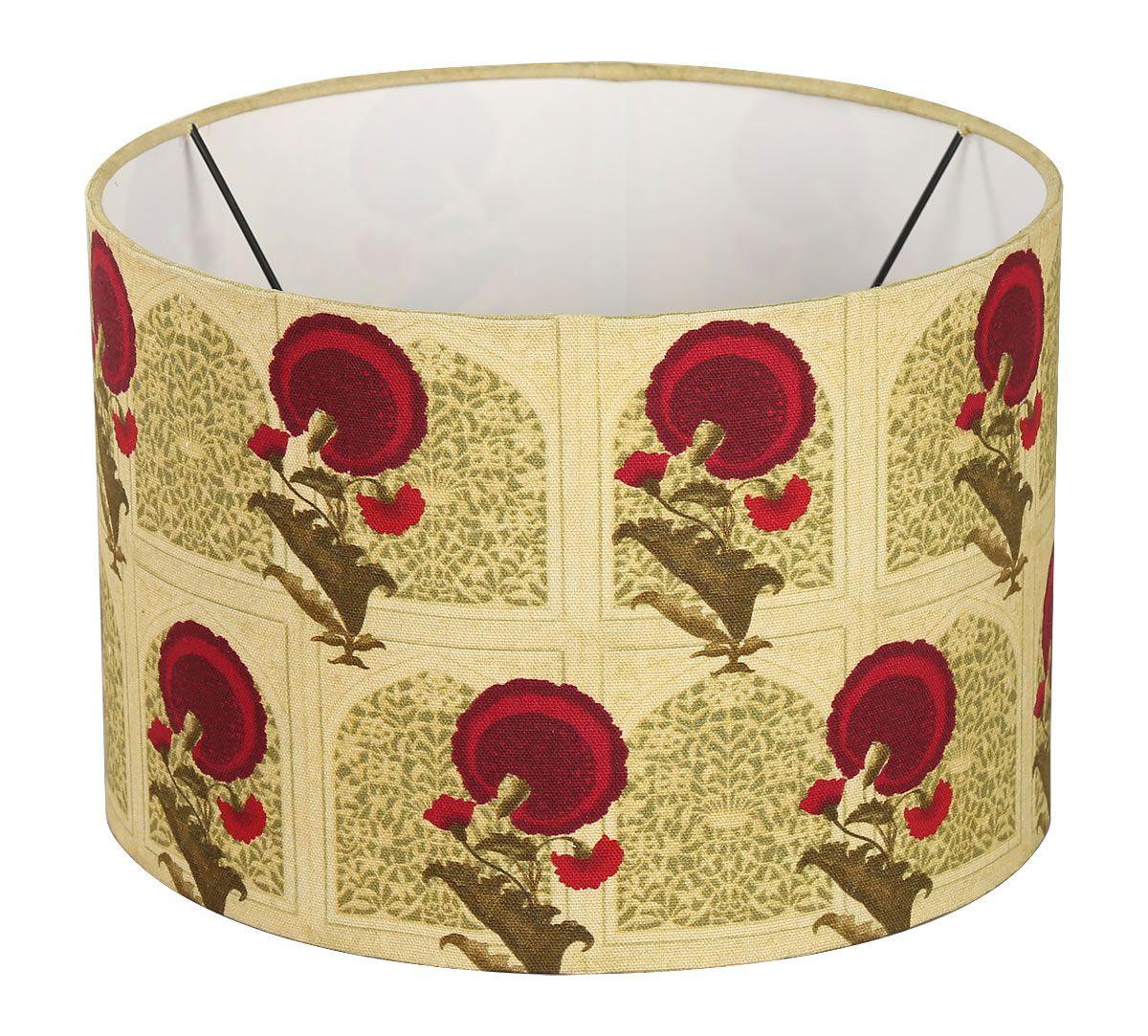 India Circus Flower Regalia Cylindrical Lamp Shade