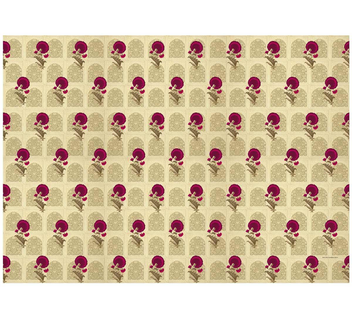India Circus Flower Regalia Gift Wrapping Paper
