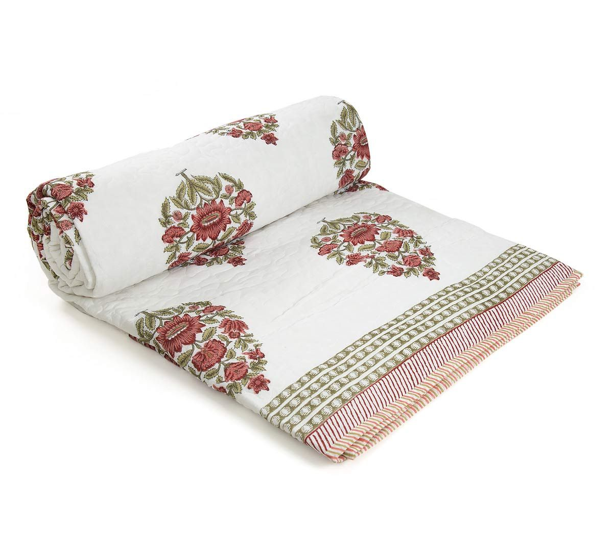 India Circus Flower Show Quilted Comforter Set