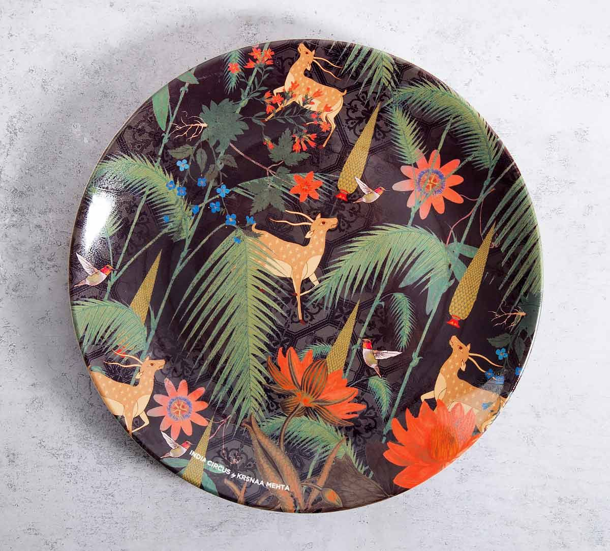 India Circus Forest Fetish 10 inch Decorative and Snacks Platter