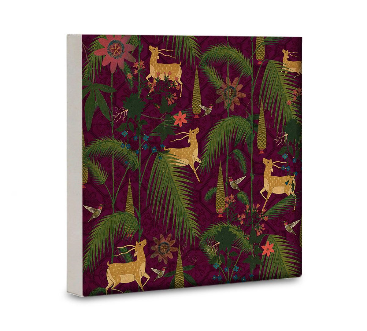 India Circus Forest Fetish 16x16 and 24x24 Canvas Wall Art