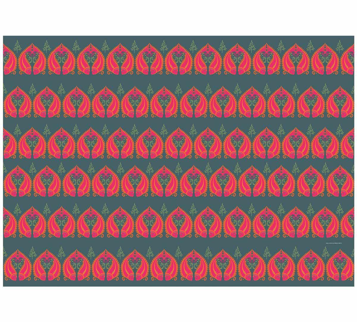 India Circus Fuchsia Fish Romance Gift Wrapping Paper