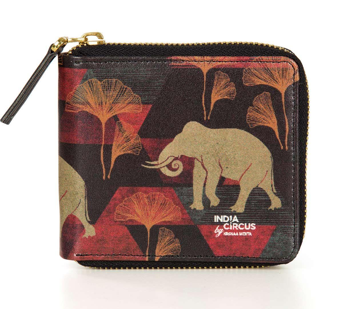 India Circus Gallant Tusker Zipper Wallet