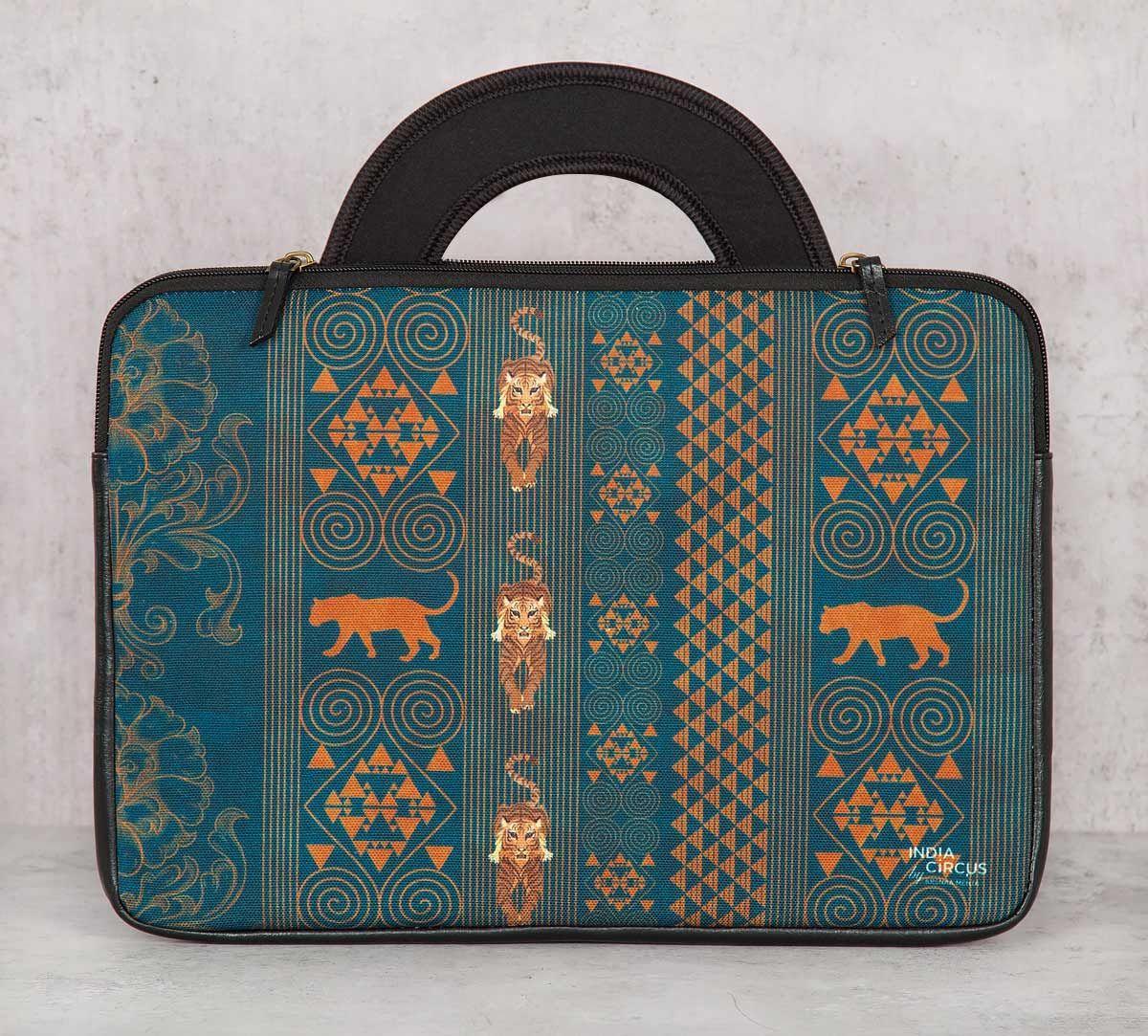 India Circus Geometrical Empress Blue 13-inch Laptop Bag