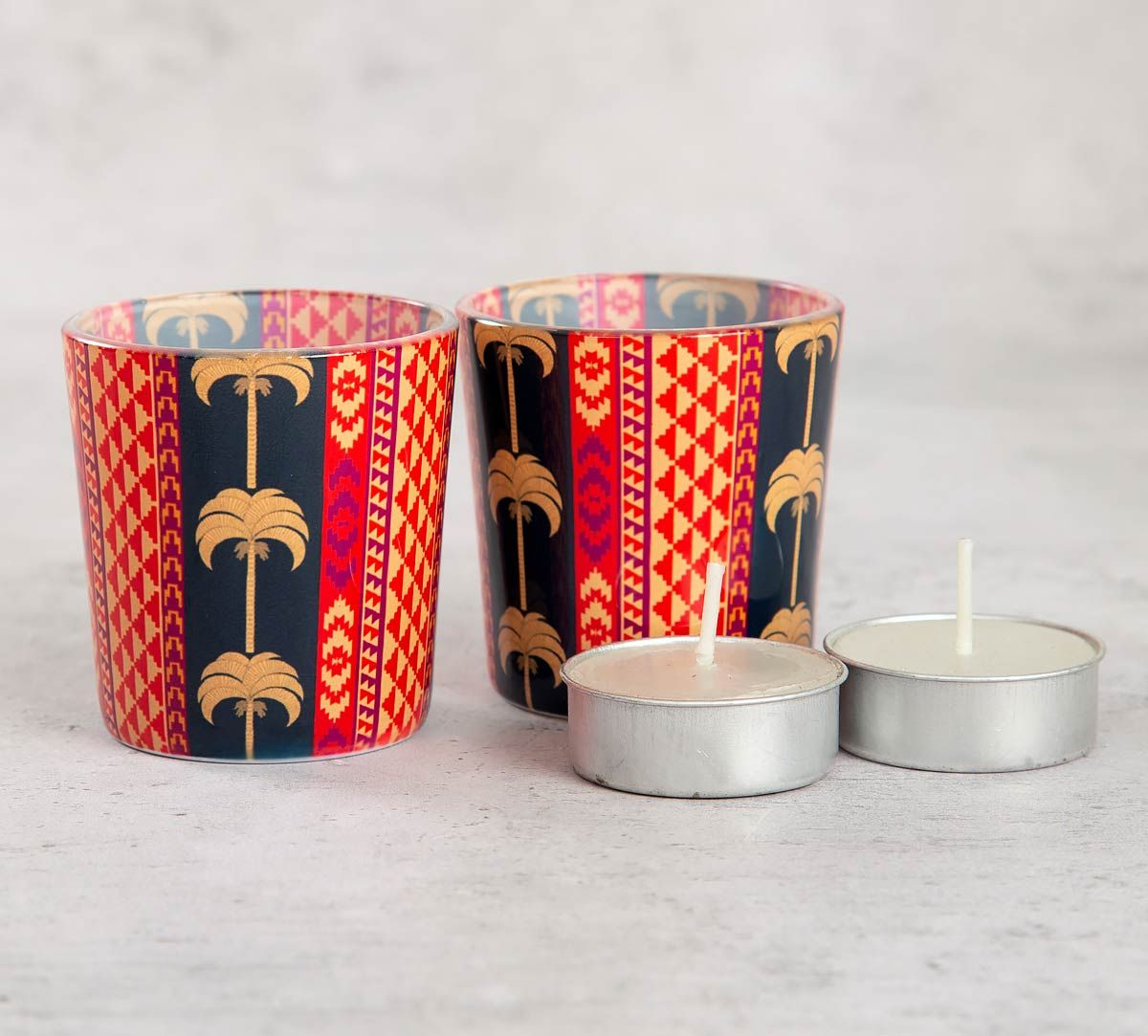 India Circus Geometrical Palmeria Tea Light Holder