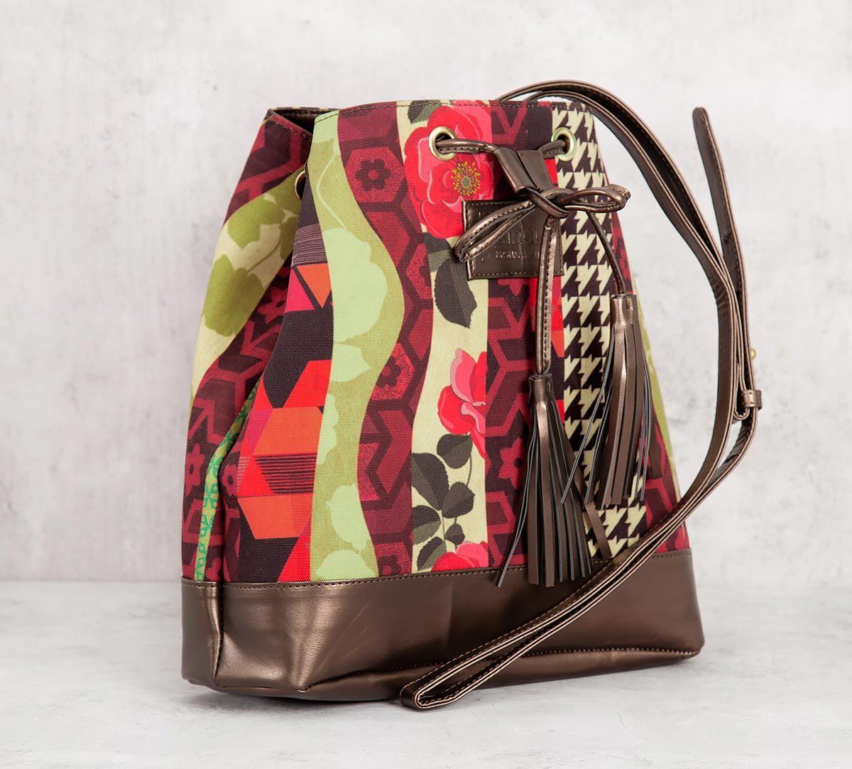 India Circus Geometrical Straps Hobo Bag