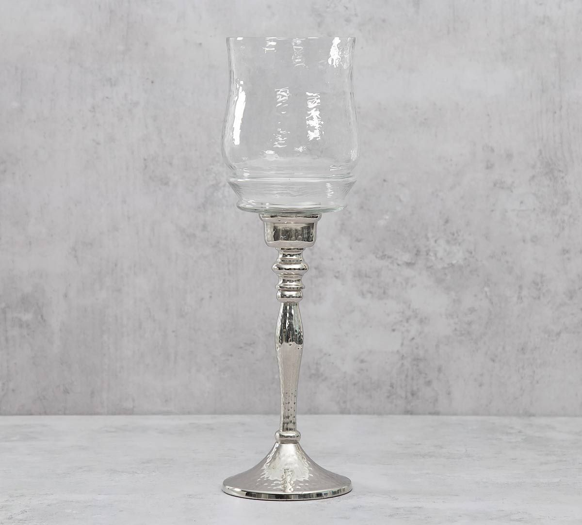 India Circus Glass Hurricane Big Lamp