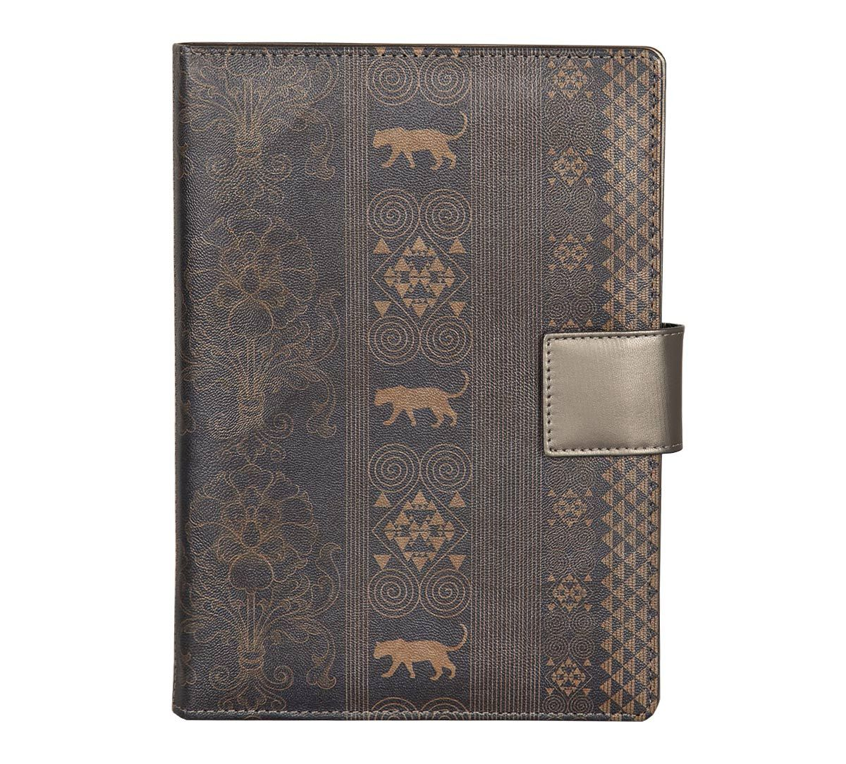 India Circus Gold Geometrical Empress Notebook Planner