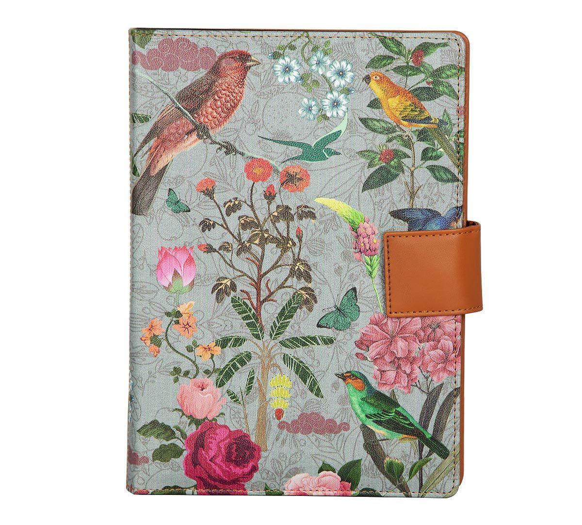 India Circus Grey Bird Land Notebook Planner