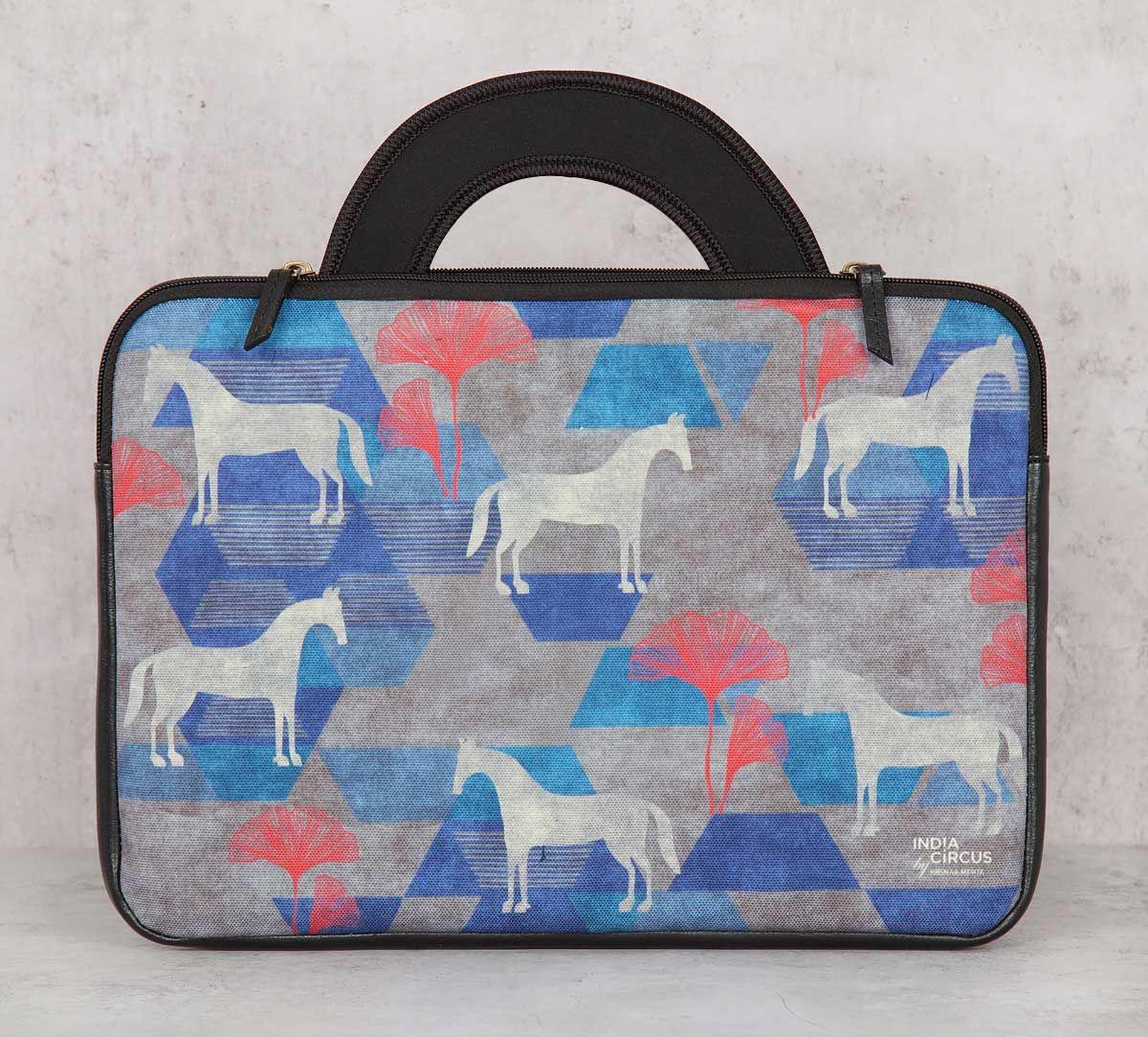 India Circus Grey Gallant Gypsy 13-inch Laptop Bag