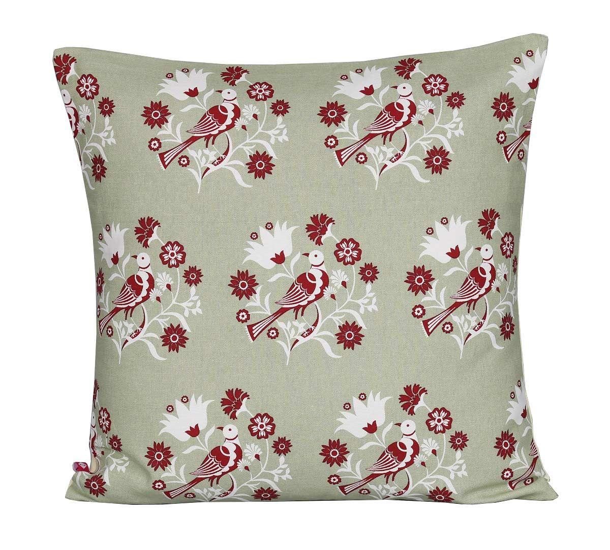 India Circus Grey Psittacines Enquiry Cotton Cushion Cover