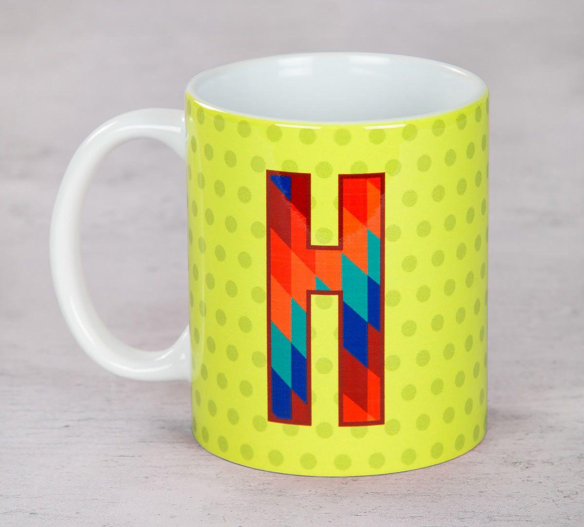 India Circus Happy Alphabet H Mug