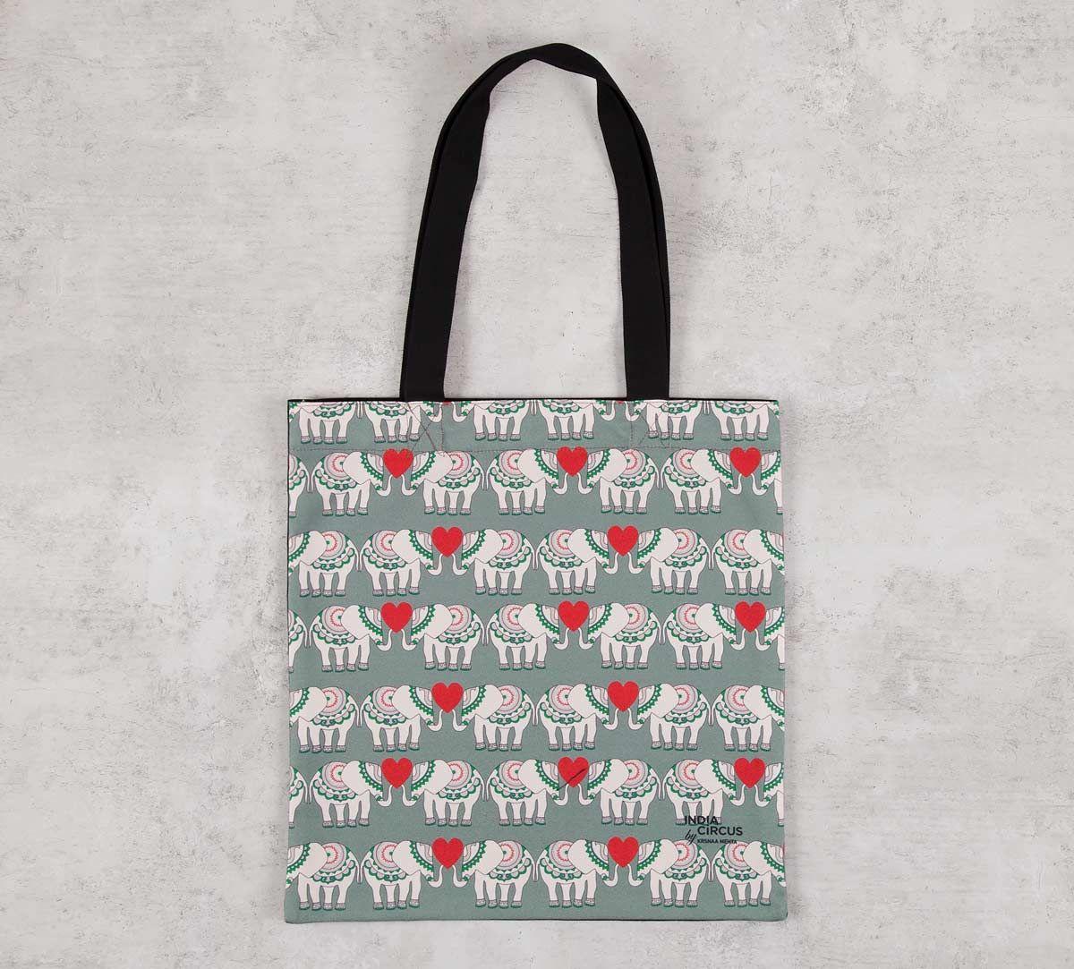 India Circus Heart Tusker Jhola Bag