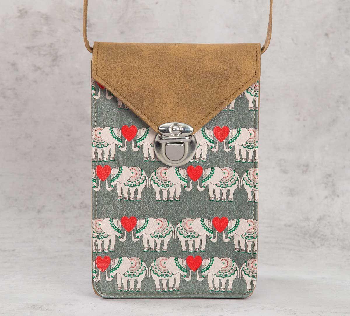India Circus Heart Tusker Mobile Sling Bag