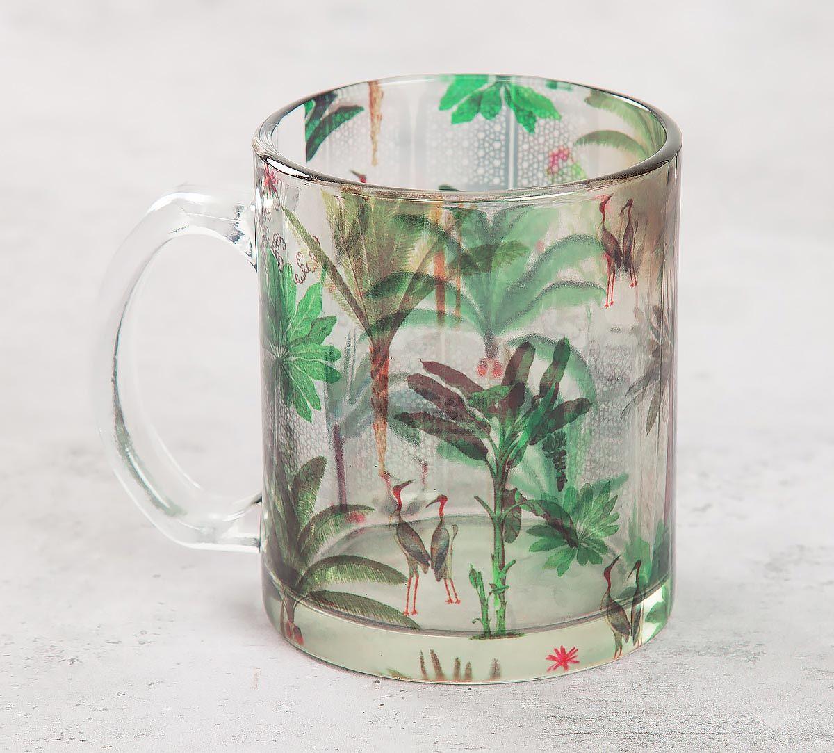 India Circus Heron's Garden Glass Mug