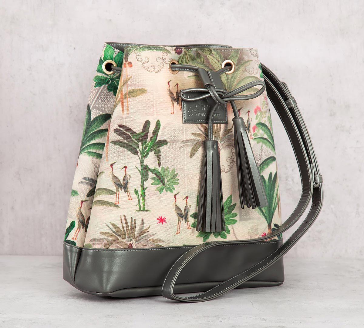 India Circus Heron's Garden Hobo Bag