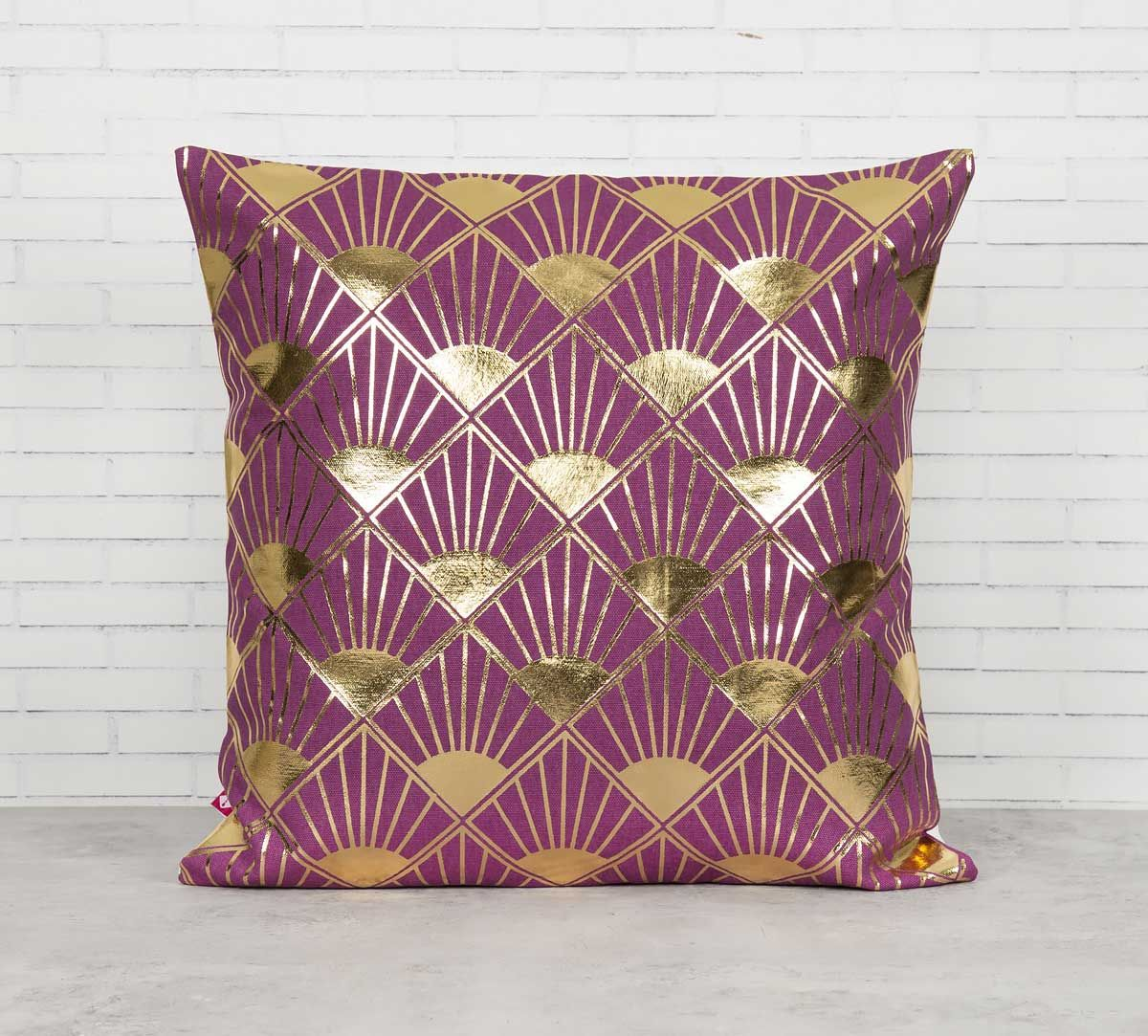 India Circus Infinity Mirror Foil Cushion Cover